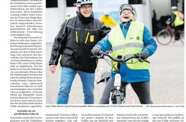 E-Bike Kurs, Zuger Zeitung vom 12.04.2019