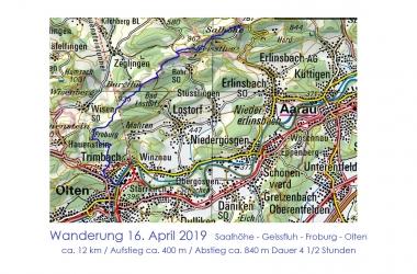Wanderung Saalhöhe - Froburg - Olten