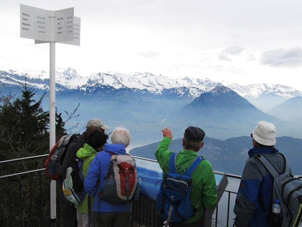 Wanderausflug - Aussicht auf das Bergpanorama